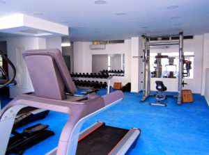 aqua palms resort new gym